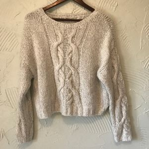 H&M Grey Chunky Knit Sweater